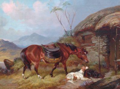 Kunstenaar Colin Graeme A4111, Colin Graeme welverdiende rust olie op doek particuliere collectie