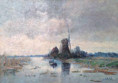 Schilderijen te koop van kunstschilder Jack Aue, Expositie Galerie Wijdemeren Breukeleveen