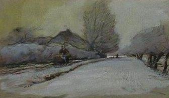 Kunstenaar Louis Apol A4283 Louis Apol gemengde techniek, 22 x 13 cm verkocht