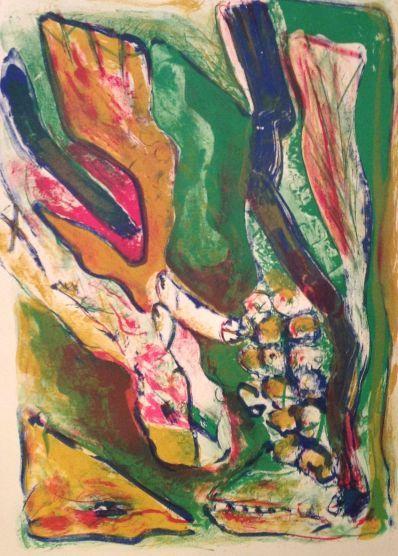 Kunstenaar Martin Engelman A5052-3, Martin Engelman Litho, 1973