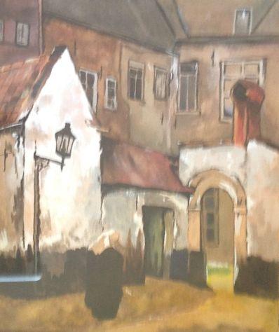 Kunstenaar Bierens A5229, Begijnhof Dorpsgezicht Verkocht