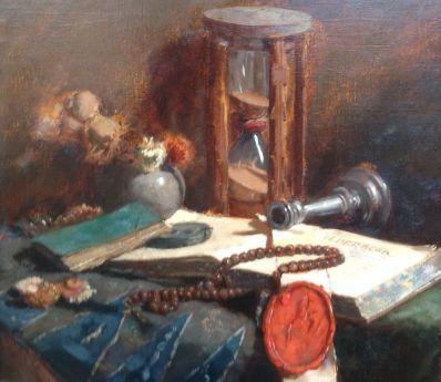 Kunstenaar Salomon Garf B1755, Salomon Garf olie op doek, 46 x 50 cm rechtsonder gesigneerd Garf