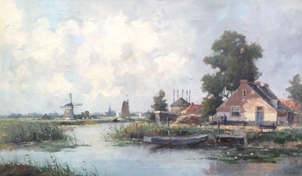 Kunstenaar Marius de Jongere A5280, Marius de Jongere olieverf op doek, gesigneerd