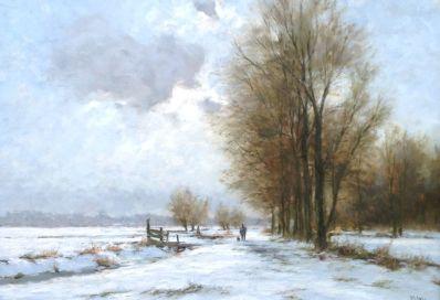Kunstenaar Frits J. Goosen A5282, F.J. Goosen olie op doek, 60 x 80 cm verkocht
