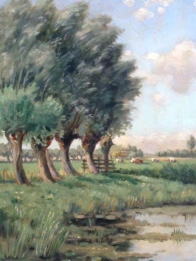 Kunstenaar Gerrit Vreedenburgh (sr.) A5385, Gerrit Vreedenburg 'Bij Woerden'