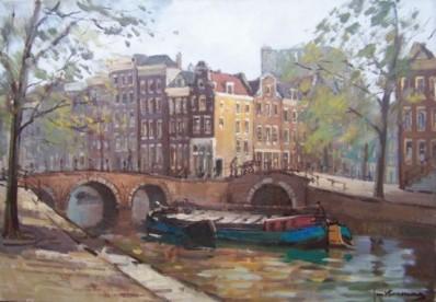 Schilderijen te koop, kunstschilder Jan Korthals Amsterdam olie op doek, gesigneerd particuliere collectie, expositie Galerie Wijdemeren Breukeleveen