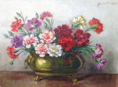 Schilderijen te koop, kunstschilder Jeannette Slager bloemstilleven olie op doek, gesigneerd, Expositie Galerie Wijdemeren Breukeleveen