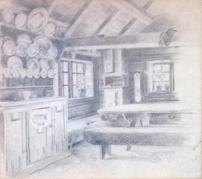 Schilderijen te koop van kunstschilder Gerhard Peter Frantz Munthe tekening, Expositie Galerie Wijdemeren Breukeleveen