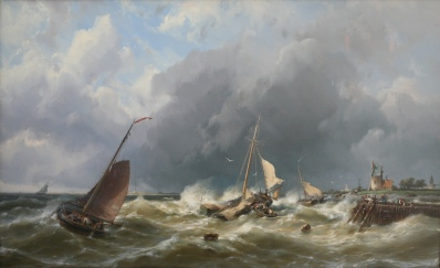 Kunstenaar Johannes Hermanus Barend Koekkoek A5897, J.H.B. Koekoek Olie op doek Verkocht