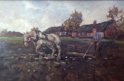 Kunstenaar Cornelis Noltee A5902, Cornelis Noltee olie op doek, 40 x 60 cm gesigneerd