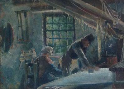Schilderijen te koop van kunstschilder Dimmen Gestel olie op doek, 30 x 40 cm, Expositie Galerie Wijdemeren Breukeleveen