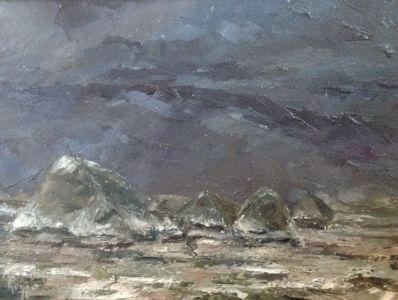 Kunstenaar Louis Ector A5905, Louis Ector De lente komt