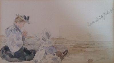 Kunstenaar Maria van Hengst A6157-2, Maria van Hengst 1896, Katwijk