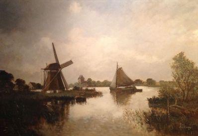 Kunstenaar P. Schoen A6184, Pieter Schoen Workum, Friesland Verkocht
