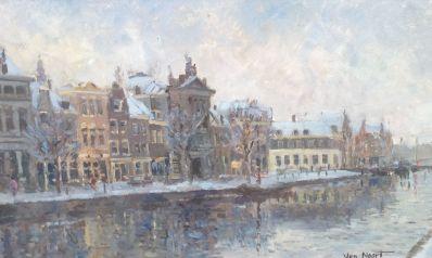 Kunst te koop bij galerie Wijdemeren van kunstschilder Alexander van Noort Spaarne te Haarlem olie op paneel, 25 x 40.5 cm rechtsonder gesigneerd