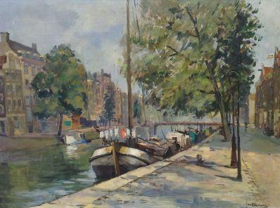 Schilderijen te koop, kunstschilder Jan Korthals Gracht Amsterdam olie op doek, gesigneerd, expositie Galerie Wijdemeren Breukeleveen