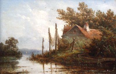 J.G. Hans, Schilderijen te koop, Galerie Wijdemeren, Kunstschilder, Expositie Kunst, A6709-2, J.G. Hans,  Zomer olie op paneel, 13 x 19 cm