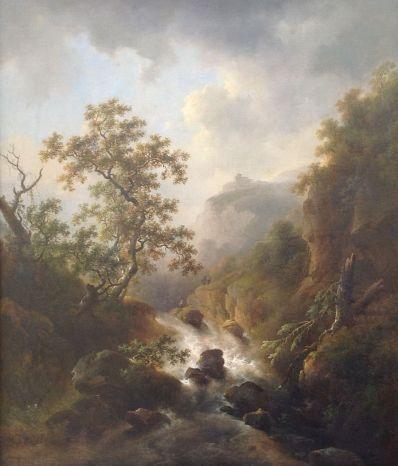 Kunstenaar Charles H. van den Eycken A6735, Charles van den Eycken 'Waterval'