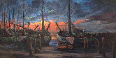 Schilderijen te koop van kunstschilder HJ Wijngaard olie op doek, gesigneerd, Expositie Galerie Wijdemeren Breukeleveen