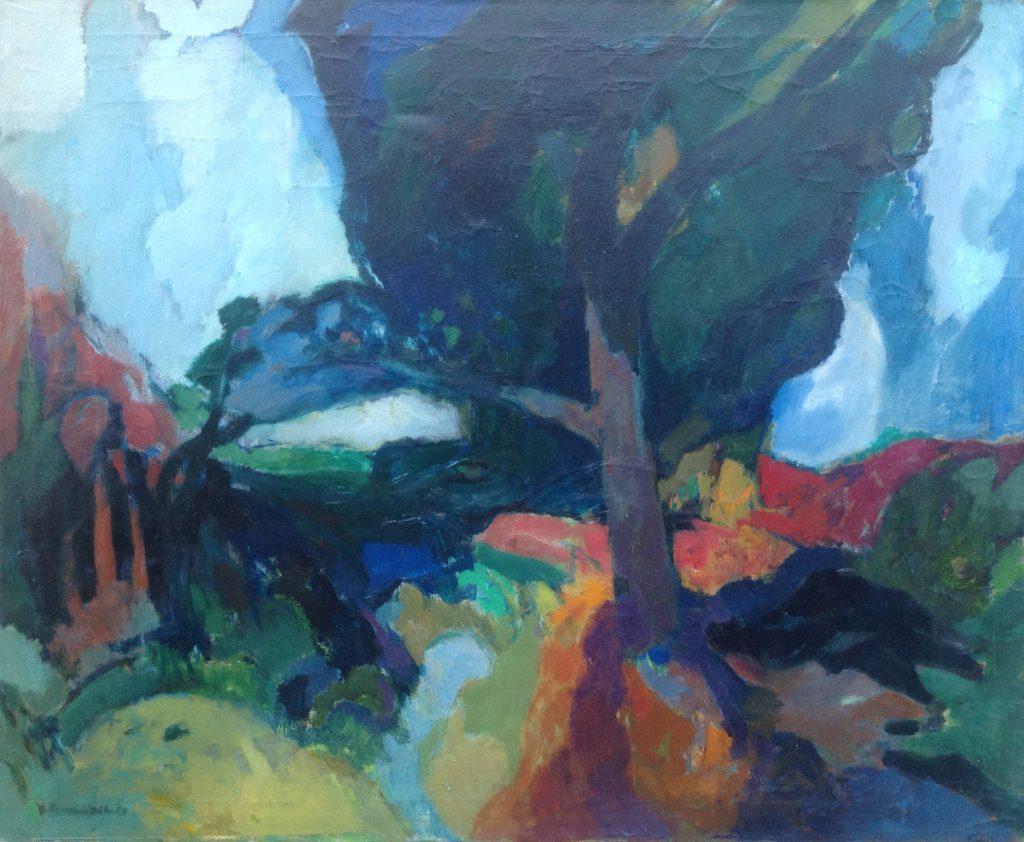 Kunstenaar Frans Nols A7831, Frans Nols, olie op doek l.o. gesigneerd, 80x100 cm