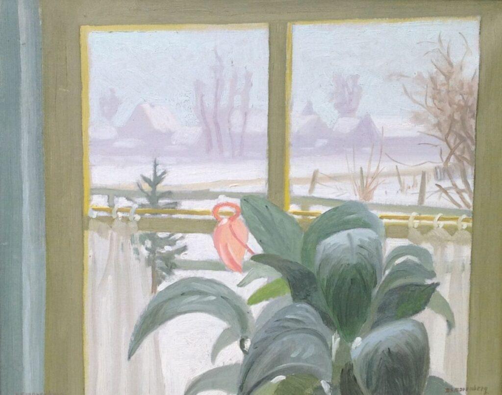 Schilderijen te koop van kunstschilder Dirk Smorenberg Cyclaam olie op doek, gesigneerd, Expositie Galerie Wijdemeren Breukeleveen