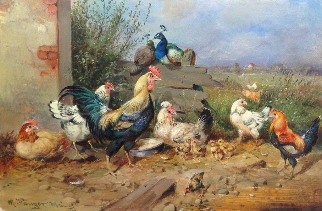 Kunstenaar Max Hänger A7962, Max Hanger olie op paneel, 15 x 23,5 cm verkocht