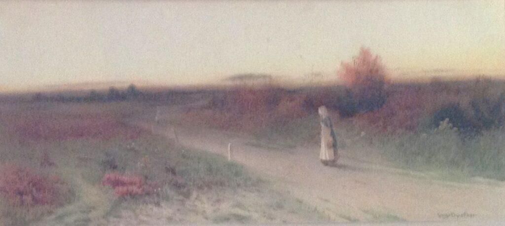 Kunstenaar George Oyston A8376-2, George Oyston Engels, aquarel