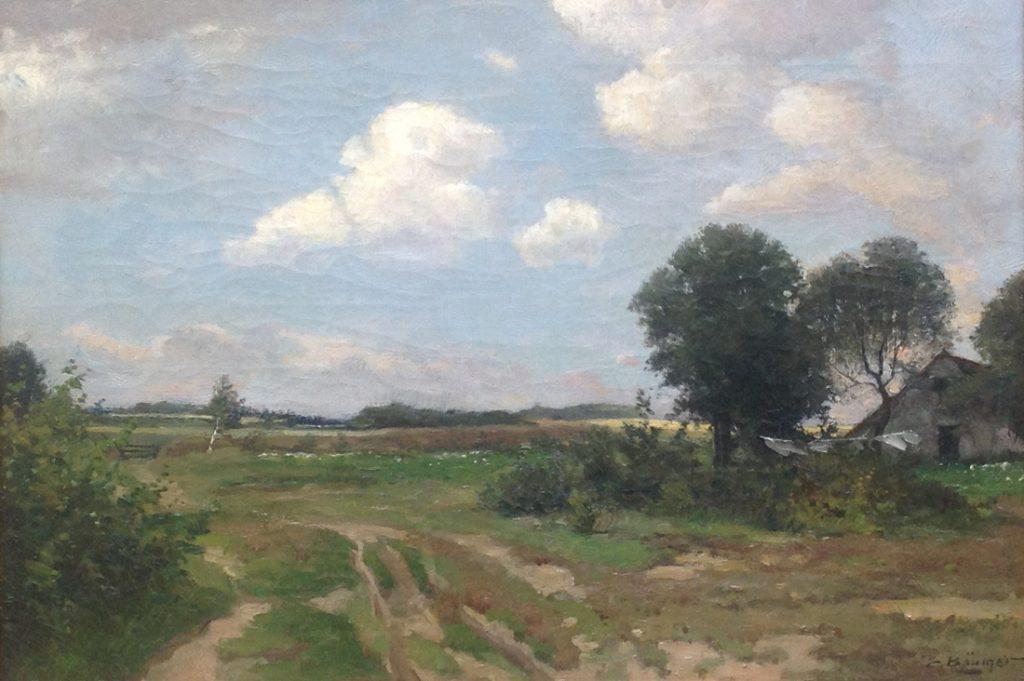 Kunstenaar Eduard Bäumer A8434 Eduard Bäumer olie op doek, 50 x 70 cm gesigneerd particuliere collectie