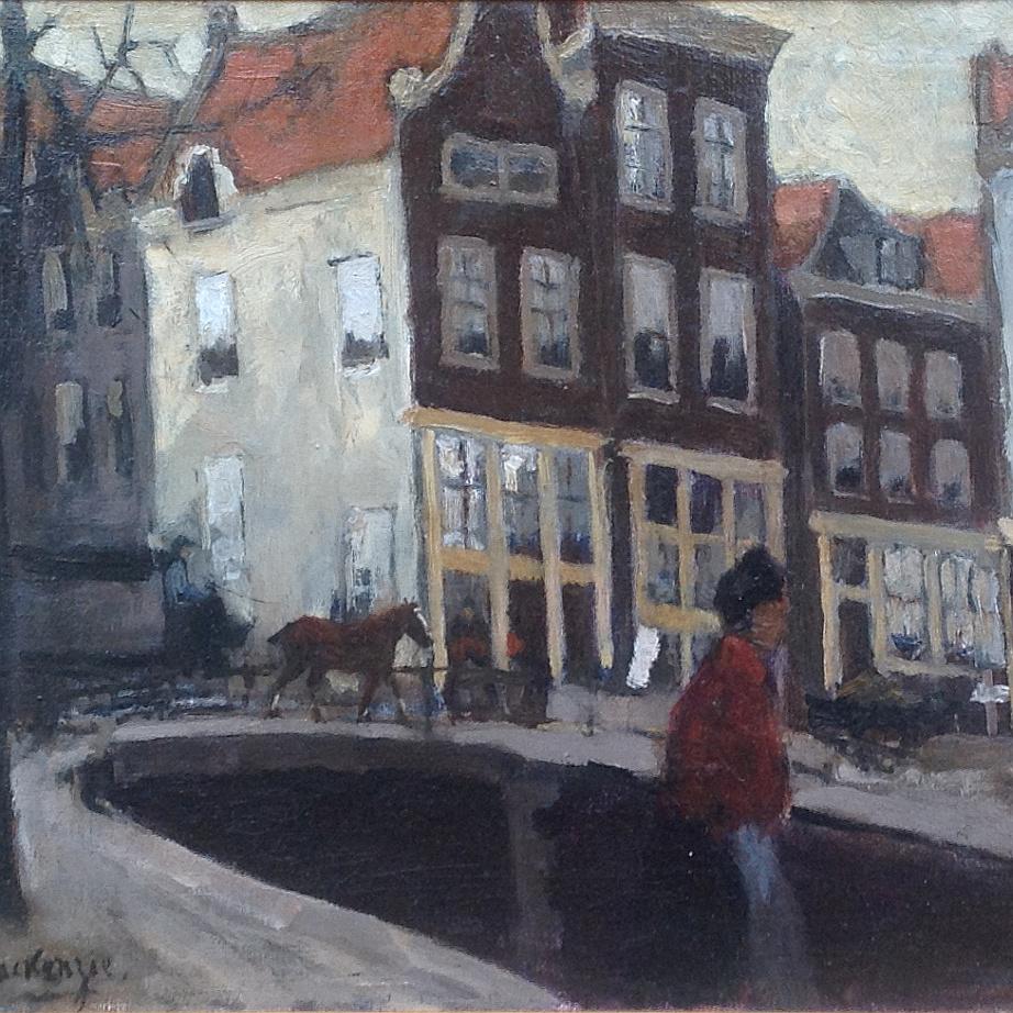 Schilderijen te koop van kunstschilder M.H. Mackenzie Kromboomssloot te Amsterdam olie op doek, 31 x 41 cm linksonder gesigneerd, Expositie Galerie Wijdemeren Breukeleveen