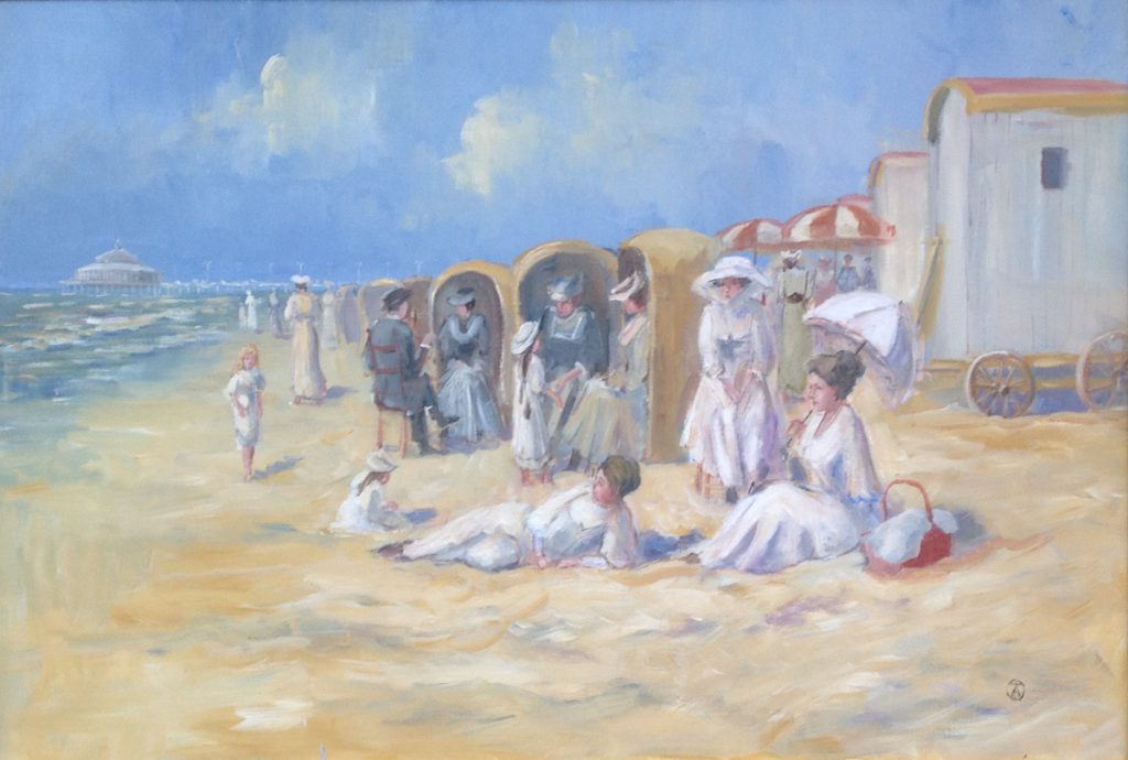 Kunstenaar Antonius van Asten A8572, Toon van Asten Strandgezicht olie op doek, 60 x 90 cm r.o. gesigneerd Verkocht