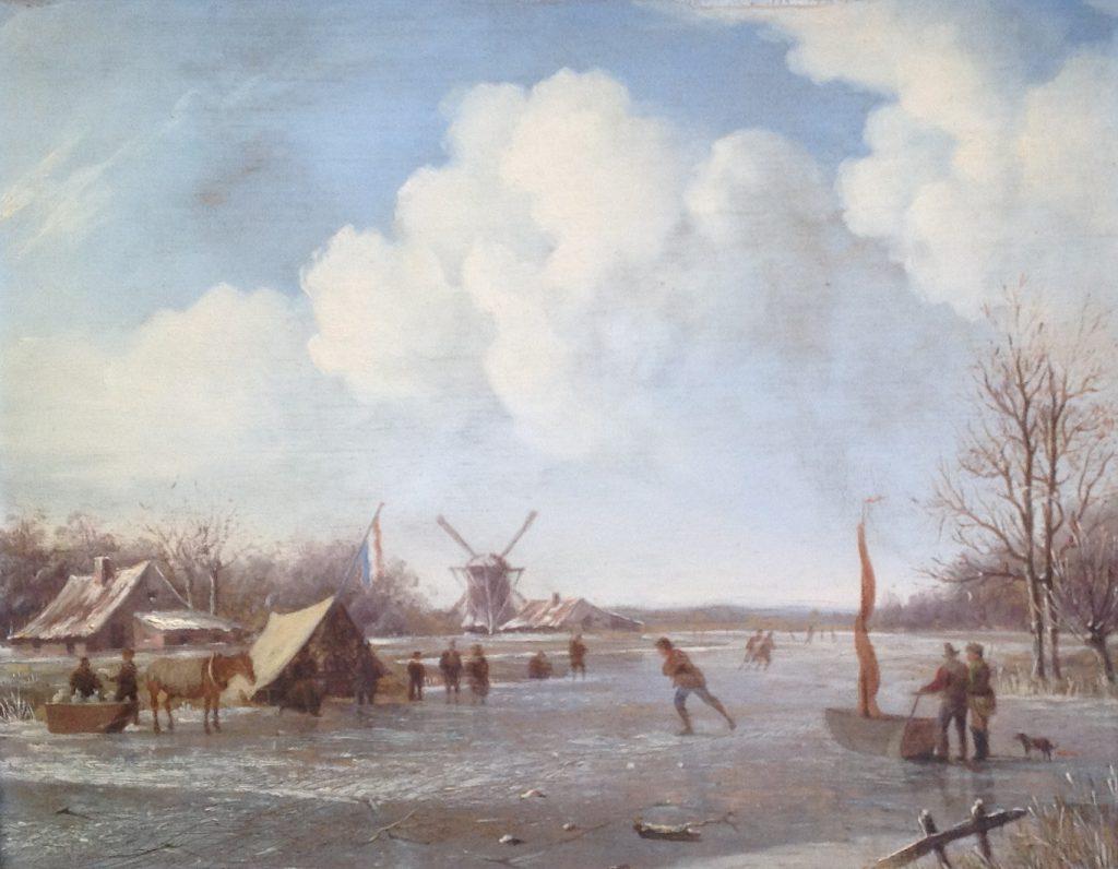 Kunstenaar Herman Henry op der Heyde A8982, H.H. op der Heyde wintergezicht olie op doek, 26 x 34 cm verkocht