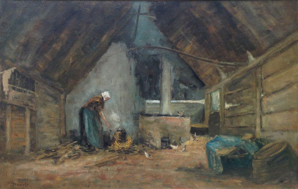 Kunstenaar Jan van Os A9021, Jacobus Petrus Cornelis van Os interieur, olie op doek