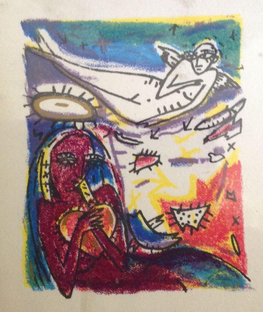 Kunstenaar Dodog Soeseno A9338 Dodog Soeseno litho, 16x12cm