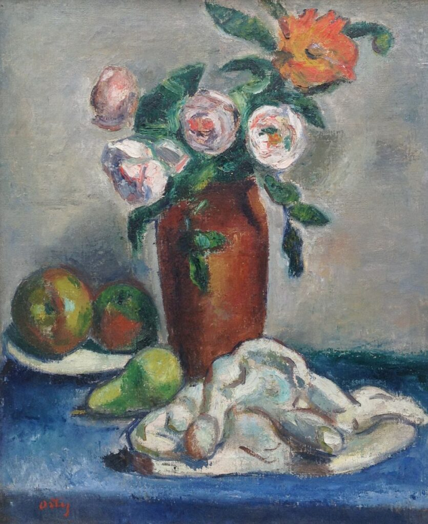 Schilderijen te koop, kunstschilder Ortiz de Zarate bloemstilleven olie op doek, doekmaat 73 x 60 cm linksonder gesigneerd, Expositie Galerie Wijdemeren Breukeleveen