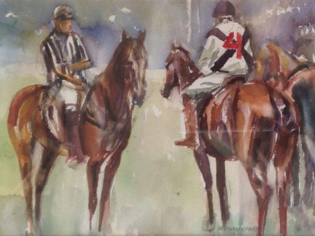 Kunstenaar Willem Vaarzon Morel jr. A9675, W. Vaarzon Morel jr. aquarel, beeldmaat 28,5 x 39 cm r.o. gesigneerd  verkocht