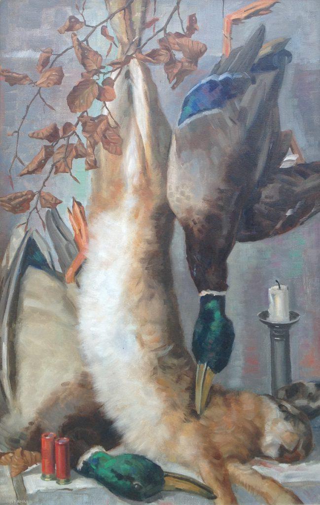 schilderijen te koop van kunstschilder, Bernard van Vlijmen Stilleven olie op doek, doekmaat 70 x 45 cm, expositie, galerie wijdemeren breukeleveen