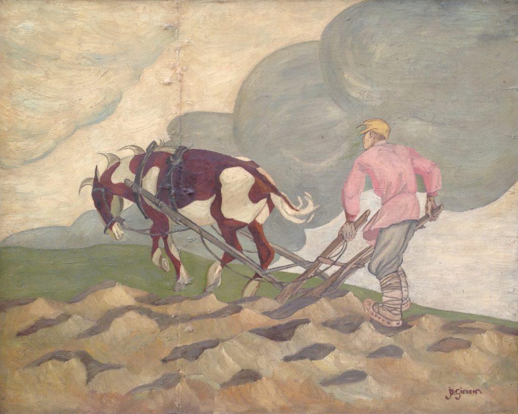 Kunstenaar J.D. Giesen A9882, J.D. Giesen olie op paneel, 58 x 73 cm r.o. gesigneerd verkocht