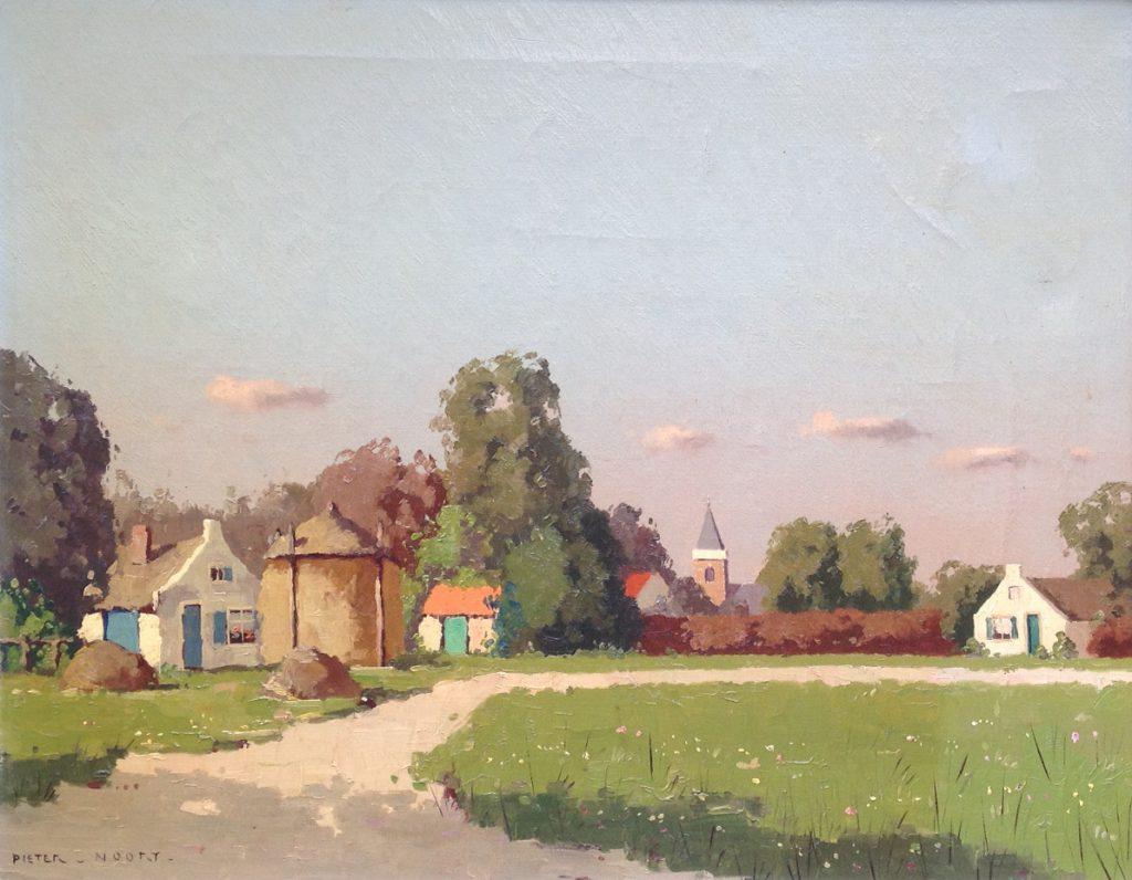 A9924/B9924, kunstschilder Pieter van Noort, Nico Bruijnesteijn, Blaricum omgeving olie op doek, 40 x 50 cm gesigneerd l.o., Schilderijen te koop, Expositie Kunst, Galerie Wijdemeren Breukeleveen