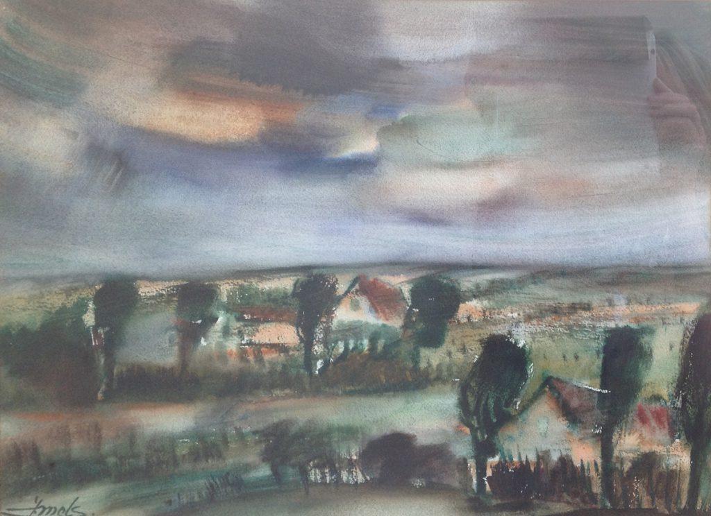 Kunstenaar Jacques Mels A9962, Jacques Mels 33 x 48 cm r.o. gesigneerd
