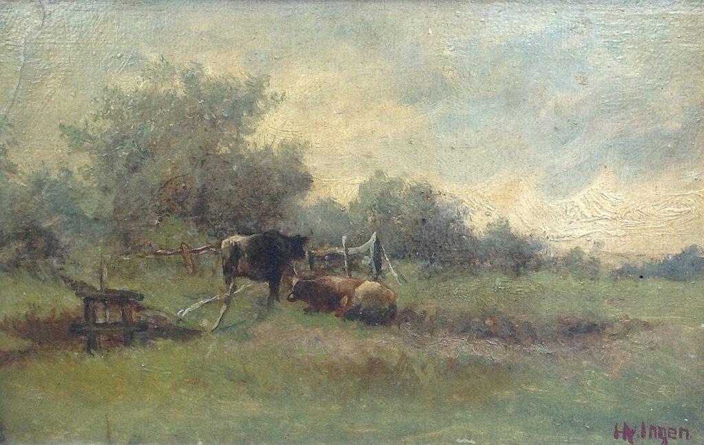 Kunstenaar Hendrikus Alexander van Ingen B105, Hendrikus Alexander van Ingen olie op paneel, 21 x 33 cm verkocht