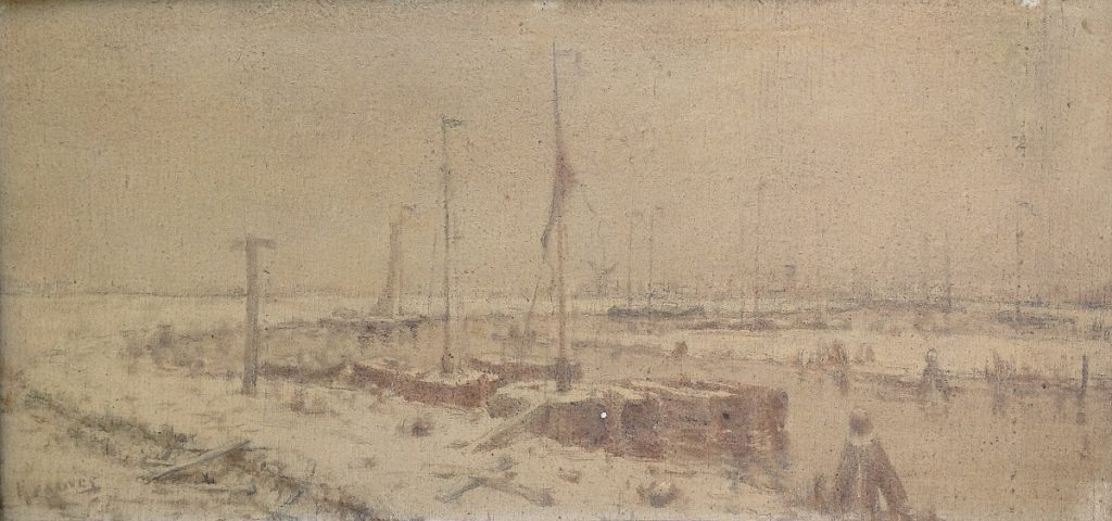 Kunstenaar Martinus Kramer B106, Martinus Kramer 'Winter' Verkocht