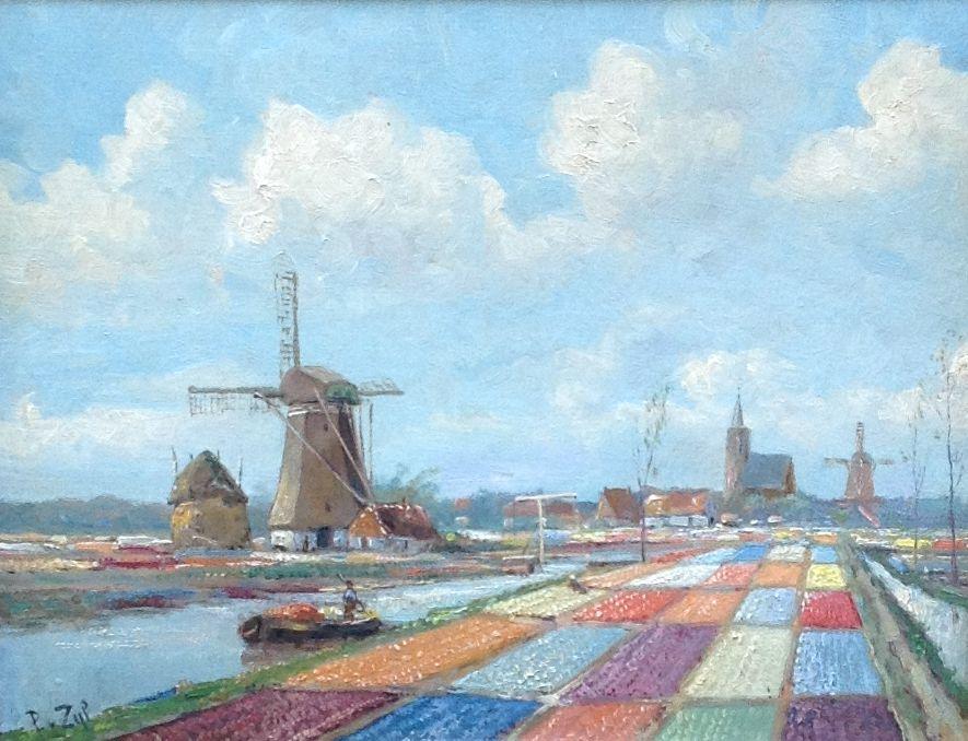 Kunstenaar P. van Zijl B1093, P. van Zijl 25 x 30 cm olie op doek
