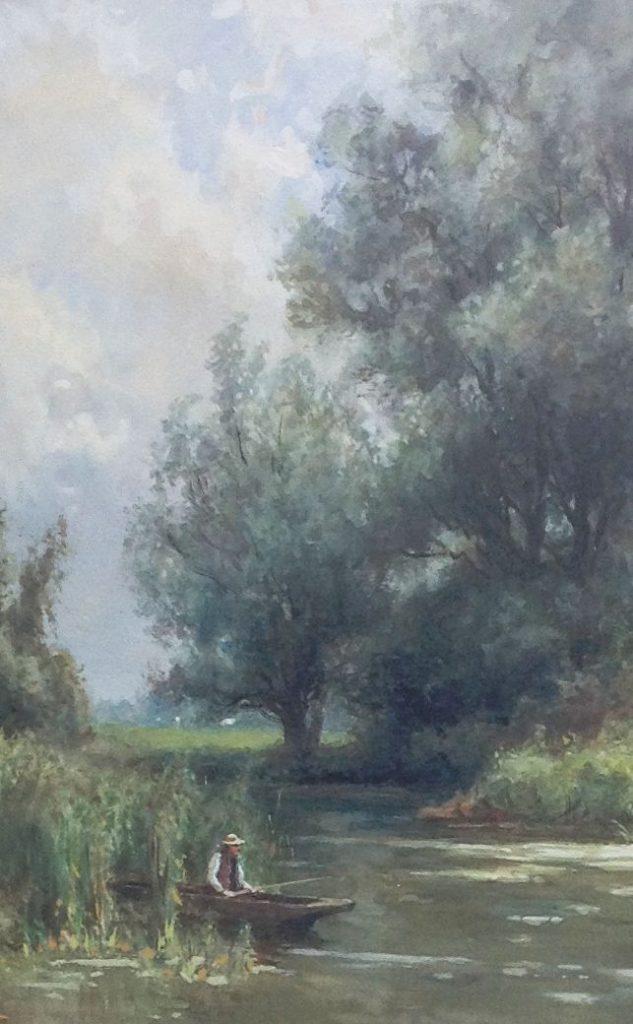 Kunstenaar P.A. Schipperus aquarel
