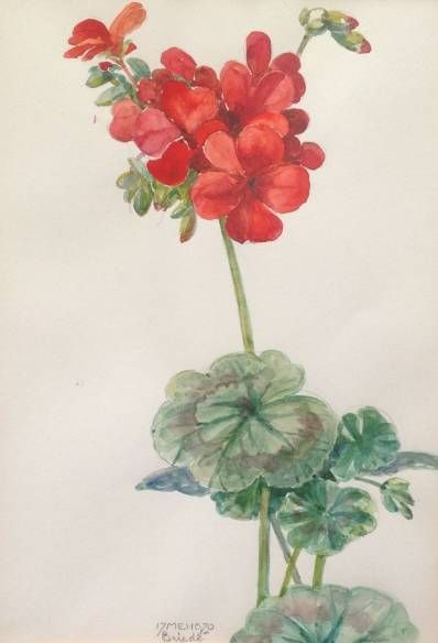 Kunstenaar Johan Briedé B1235-1, Johan Briede beeldmaat 25 x 19 cm aquarel en potlood op papier gesigneerd m.o.