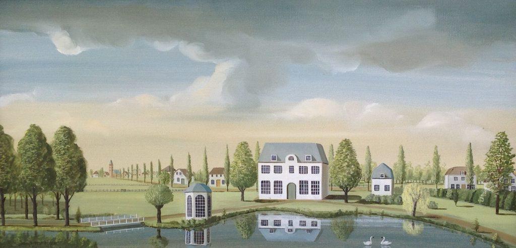 Schilderijen te koop van kunstschilder Jaap ter Haar 30,5 x 60 cm olie op doek, signatuur linksonder, Expositie Galerie Wijdemeren Breukeleveen