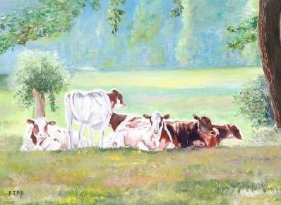 Kunstenaar Bert Bijl B1244, Bert Bijl Olie op doek, 30 x 40 cm l.o. gesigneerd