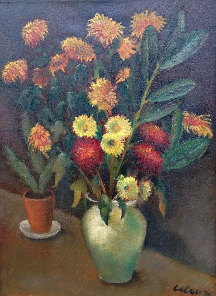 Kunstenaar Ulco Kooistra B1327, Ulco Kooistra 'Bloemstilleven' Olie op doek, beeldmaat: 75 x 55 cm r.o. gesigneerd