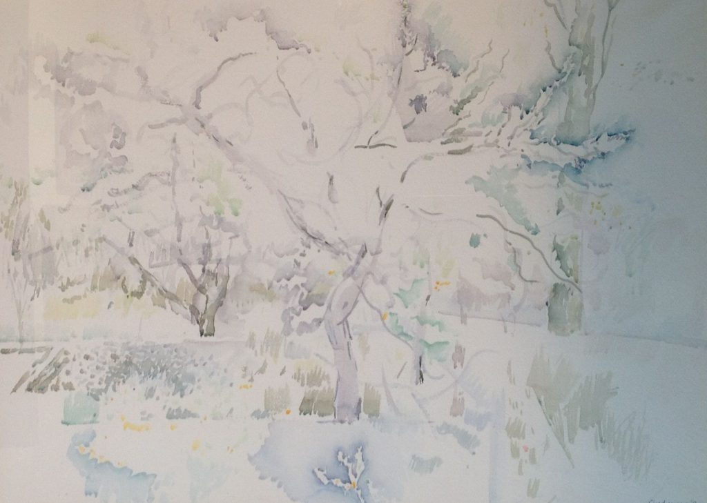 schilderijen te koop van kunstschilder, Ronald Lindgreen aquarel, 54,5 x 74 cm rechtsonder gesigneerd, expositie, galerie wijdemeren breukeleveen