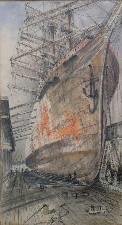 Kunstenaar W. Bosman B1367, W. Bosman Pastel, 98 x 56 cm r.o. gesigneerd verkocht