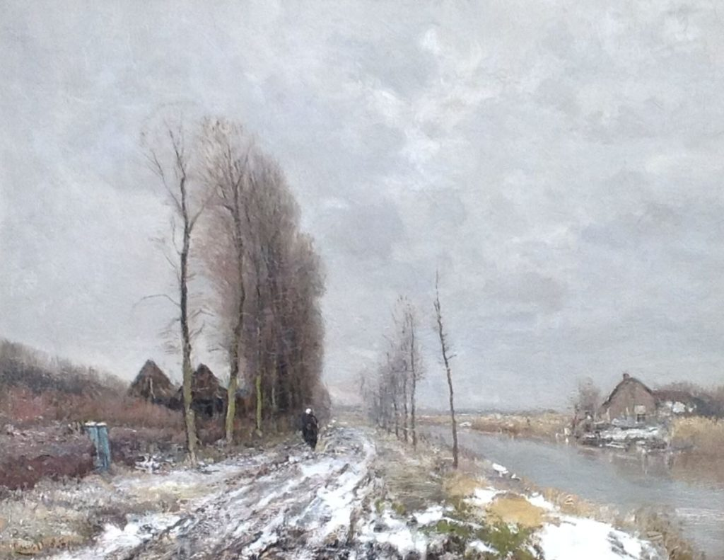 Kunstenaar Louis Apol B1422 Louis Apol winterlandschap verkocht